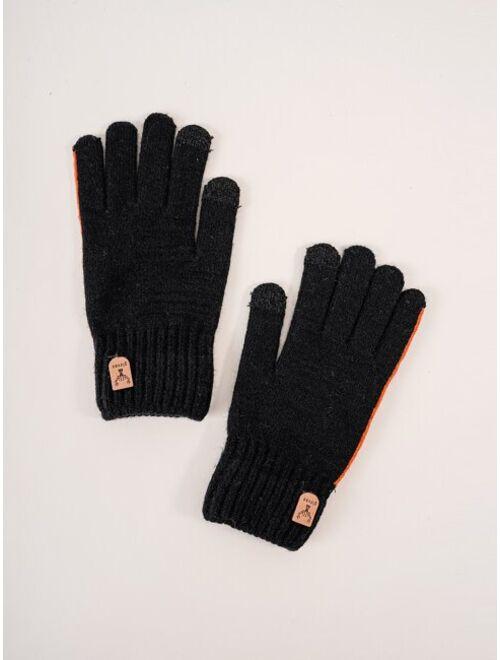 Shein Men Minimalist Gloves