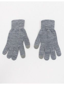 Glamorous gloves with touch screen in gray