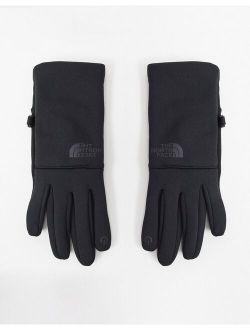 Etip recycled gloves in black