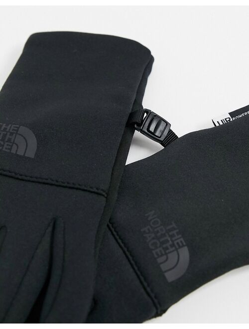The North Face Etip recycled gloves in black