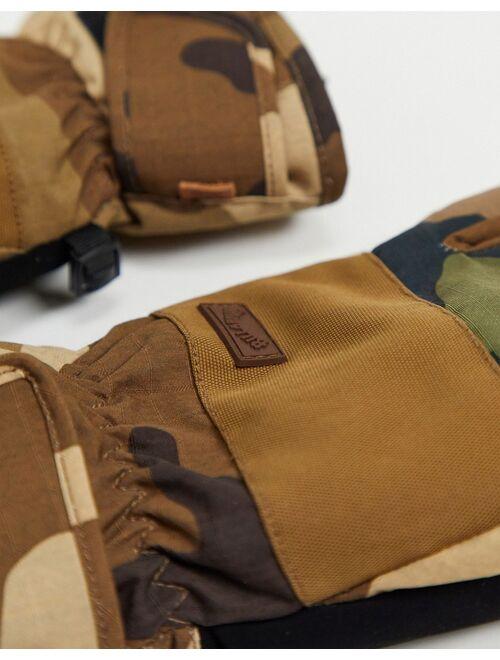 Billabong Kera gloves in green camo
