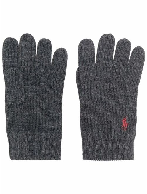 Polo Ralph Lauren Polo Pony-embroidered wool gloves