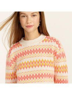 Cashmere Fair Isle crewneck sweater