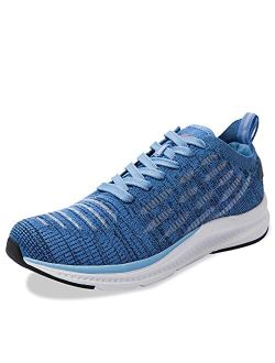 WYBLZ Men's Walking Shoes Breathable Non Slip Lightweight Running Athletic Gym Tennis Shoe