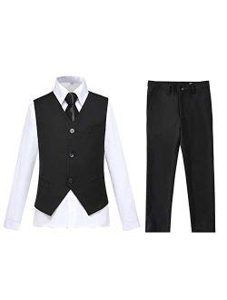 Lycody Boys Vest Set Formal Dress Suits Wedding Outfit Dresswear