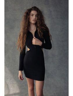 UO Gwen Collared Cutout Mini Dress