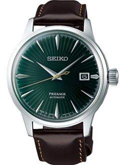 Presage Mens Analog Automatic Watch With Leather Bracelet Srpd37j1