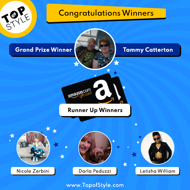 Topofstyle Sweepstakes Winners